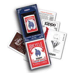 Zippo 24880. Lighter and Playing Cards.Gift Set